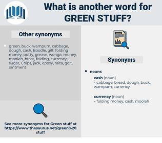 green stuff, synonym green stuff, another word for green stuff, words like green stuff, thesaurus green stuff