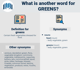 greens, synonym greens, another word for greens, words like greens, thesaurus greens