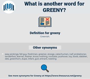 greeny, synonym greeny, another word for greeny, words like greeny, thesaurus greeny