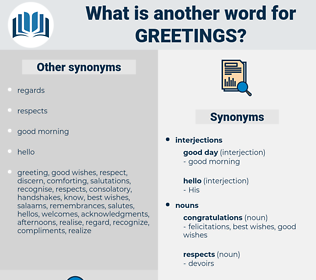 greetings, synonym greetings, another word for greetings, words like greetings, thesaurus greetings