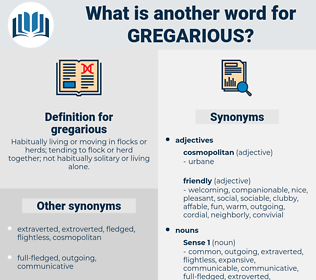 gregarious, synonym gregarious, another word for gregarious, words like gregarious, thesaurus gregarious