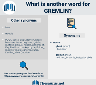 gremlin, synonym gremlin, another word for gremlin, words like gremlin, thesaurus gremlin