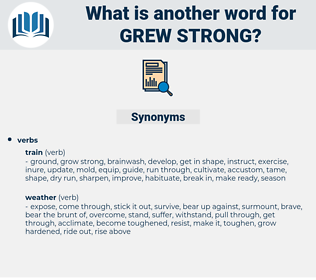 grew strong, synonym grew strong, another word for grew strong, words like grew strong, thesaurus grew strong
