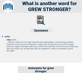 grew stronger, synonym grew stronger, another word for grew stronger, words like grew stronger, thesaurus grew stronger