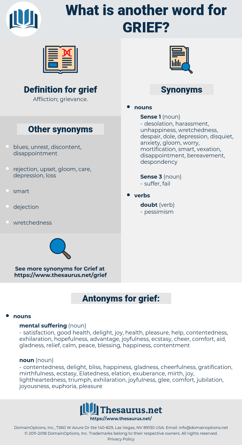 grief, synonym grief, another word for grief, words like grief, thesaurus grief