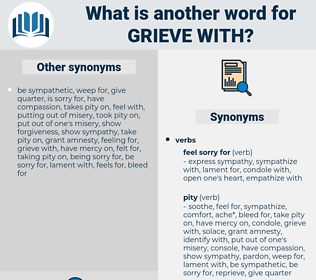 grieve with, synonym grieve with, another word for grieve with, words like grieve with, thesaurus grieve with