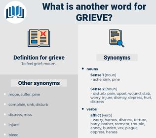 grieve, synonym grieve, another word for grieve, words like grieve, thesaurus grieve
