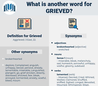 Grieved, synonym Grieved, another word for Grieved, words like Grieved, thesaurus Grieved