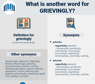 grievingly, synonym grievingly, another word for grievingly, words like grievingly, thesaurus grievingly