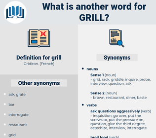 grill, synonym grill, another word for grill, words like grill, thesaurus grill