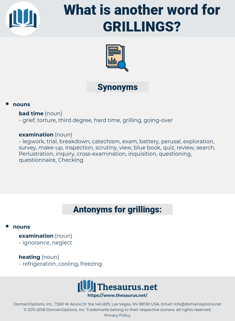 grillings, synonym grillings, another word for grillings, words like grillings, thesaurus grillings