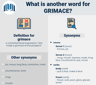 grimace, synonym grimace, another word for grimace, words like grimace, thesaurus grimace
