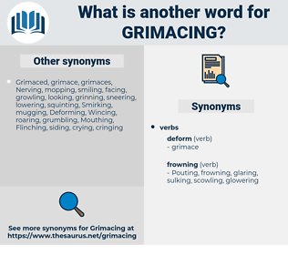 grimacing, synonym grimacing, another word for grimacing, words like grimacing, thesaurus grimacing