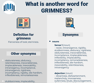 grimness, synonym grimness, another word for grimness, words like grimness, thesaurus grimness