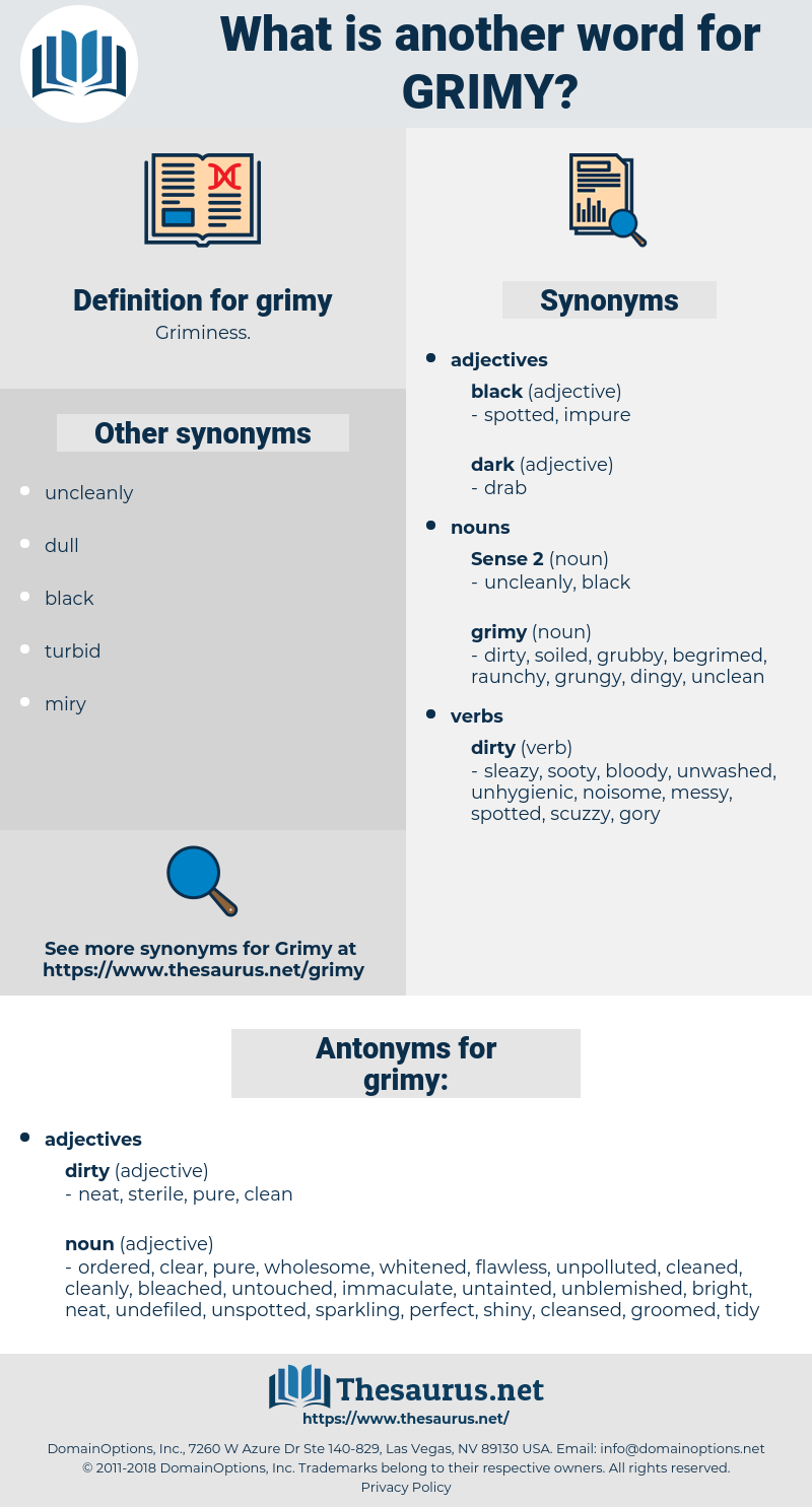 grimy, synonym grimy, another word for grimy, words like grimy, thesaurus grimy