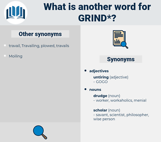 grind, synonym grind, another word for grind, words like grind, thesaurus grind