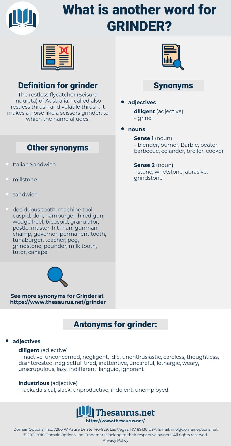grinder, synonym grinder, another word for grinder, words like grinder, thesaurus grinder
