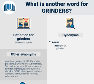 grinders, synonym grinders, another word for grinders, words like grinders, thesaurus grinders