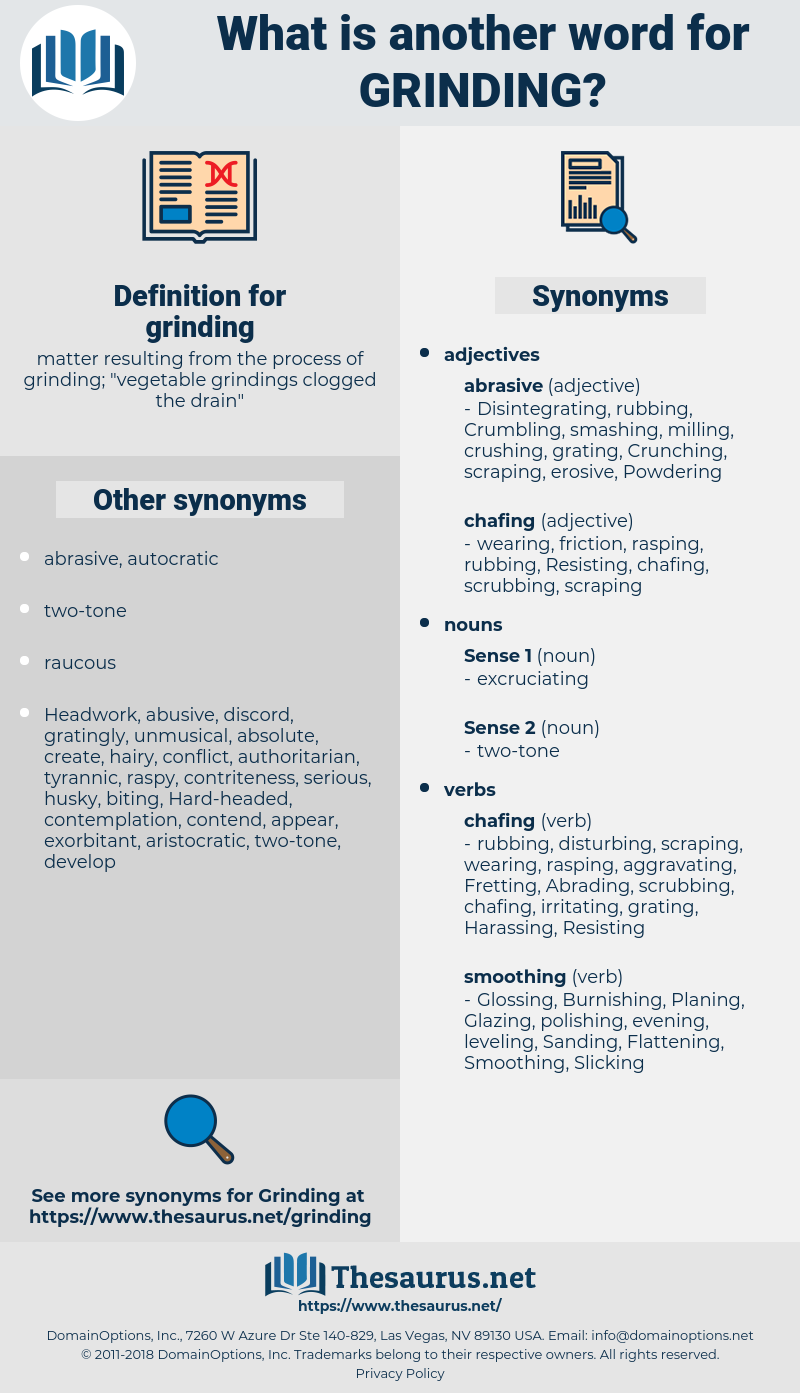 grinding, synonym grinding, another word for grinding, words like grinding, thesaurus grinding