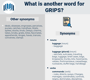 Grips, synonym Grips, another word for Grips, words like Grips, thesaurus Grips