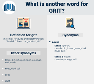 grit, synonym grit, another word for grit, words like grit, thesaurus grit