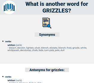 grizzles, synonym grizzles, another word for grizzles, words like grizzles, thesaurus grizzles