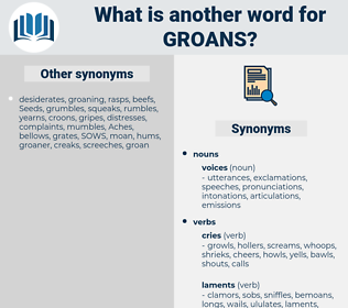 groans, synonym groans, another word for groans, words like groans, thesaurus groans