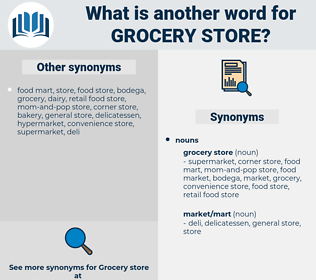 grocery store, synonym grocery store, another word for grocery store, words like grocery store, thesaurus grocery store