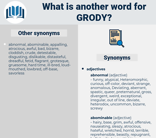 grody, synonym grody, another word for grody, words like grody, thesaurus grody