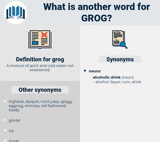 grog, synonym grog, another word for grog, words like grog, thesaurus grog