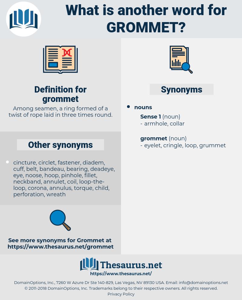 grommet, synonym grommet, another word for grommet, words like grommet, thesaurus grommet