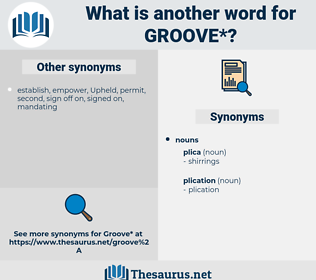 groove, synonym groove, another word for groove, words like groove, thesaurus groove