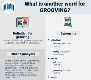 grooving, synonym grooving, another word for grooving, words like grooving, thesaurus grooving