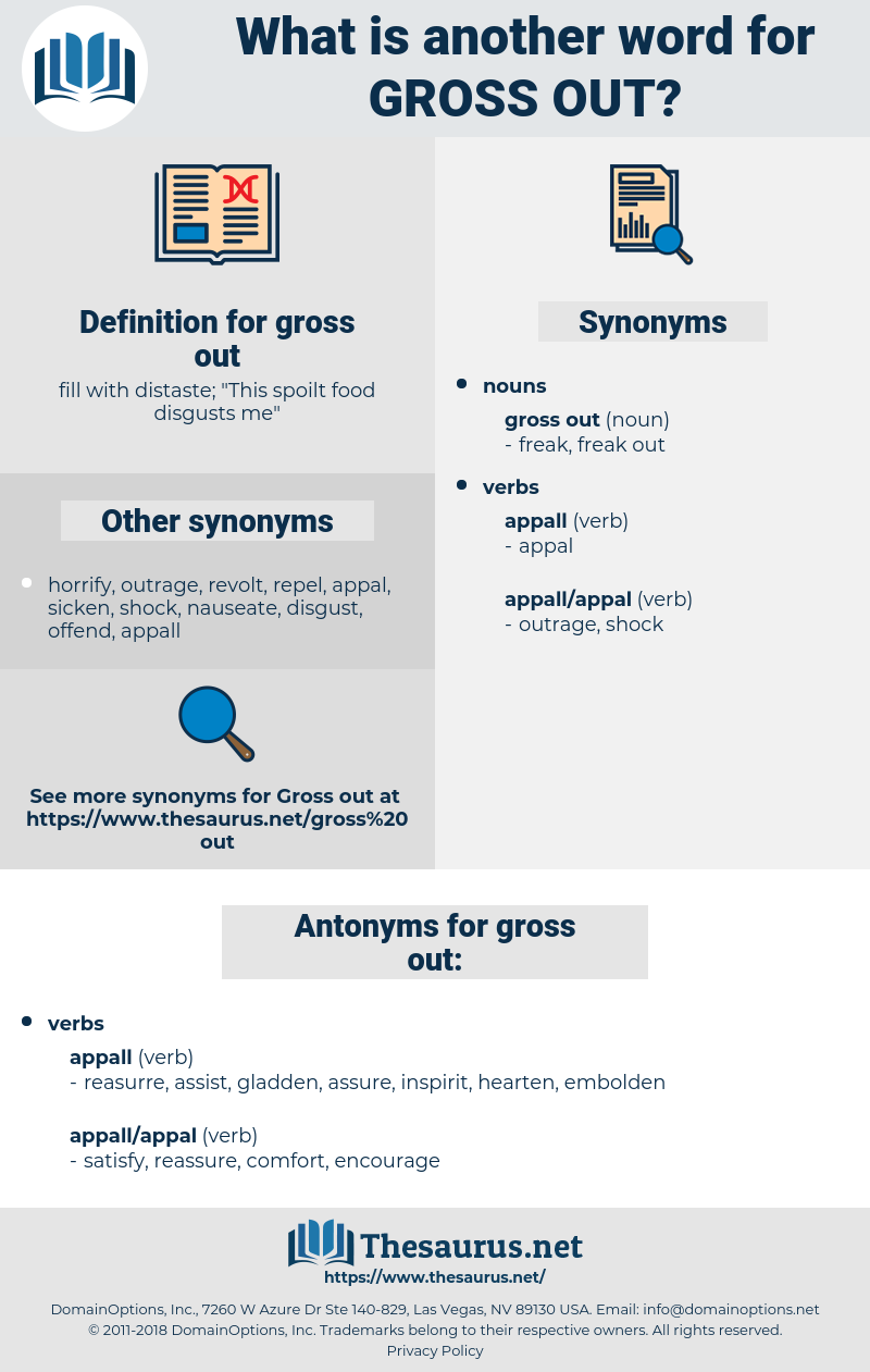 gross out, synonym gross out, another word for gross out, words like gross out, thesaurus gross out