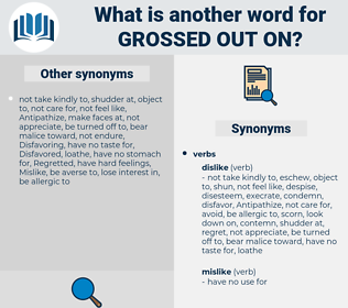 grossed out on, synonym grossed out on, another word for grossed out on, words like grossed out on, thesaurus grossed out on