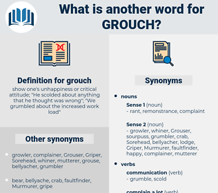 grouch, synonym grouch, another word for grouch, words like grouch, thesaurus grouch
