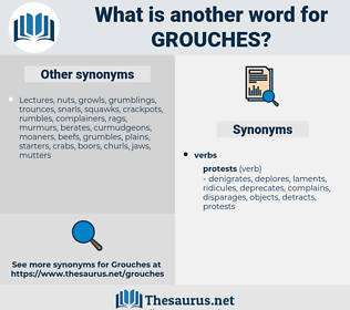 grouches, synonym grouches, another word for grouches, words like grouches, thesaurus grouches