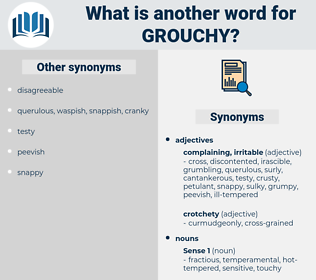 grouchy, synonym grouchy, another word for grouchy, words like grouchy, thesaurus grouchy