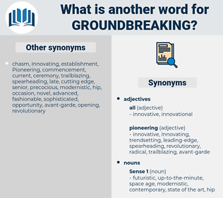 groundbreaking, synonym groundbreaking, another word for groundbreaking, words like groundbreaking, thesaurus groundbreaking