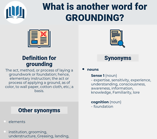 grounding, synonym grounding, another word for grounding, words like grounding, thesaurus grounding