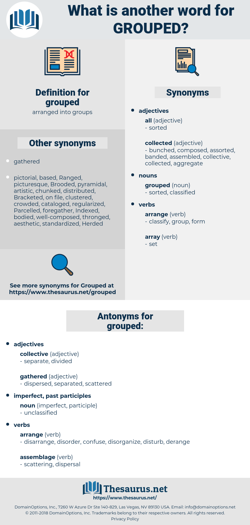 grouped, synonym grouped, another word for grouped, words like grouped, thesaurus grouped