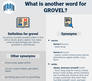 grovel, synonym grovel, another word for grovel, words like grovel, thesaurus grovel