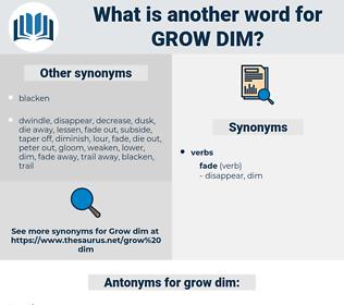 grow dim, synonym grow dim, another word for grow dim, words like grow dim, thesaurus grow dim