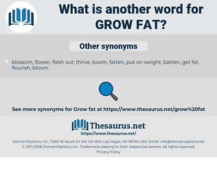 grow fat, synonym grow fat, another word for grow fat, words like grow fat, thesaurus grow fat