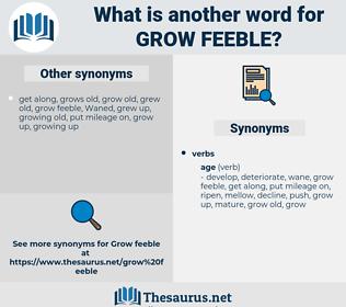 grow feeble, synonym grow feeble, another word for grow feeble, words like grow feeble, thesaurus grow feeble