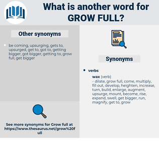 grow full, synonym grow full, another word for grow full, words like grow full, thesaurus grow full
