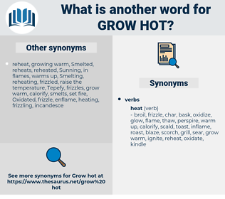 grow hot, synonym grow hot, another word for grow hot, words like grow hot, thesaurus grow hot