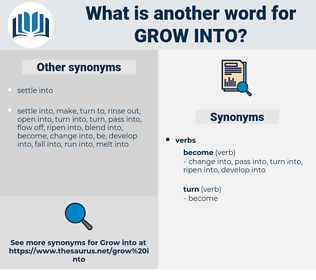 grow into, synonym grow into, another word for grow into, words like grow into, thesaurus grow into