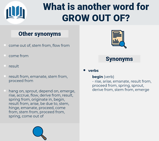 grow out of, synonym grow out of, another word for grow out of, words like grow out of, thesaurus grow out of