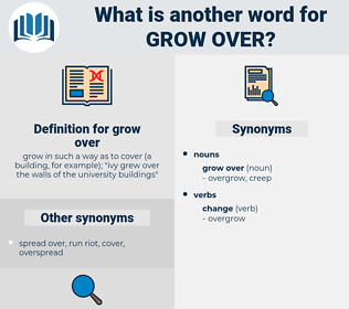 grow over, synonym grow over, another word for grow over, words like grow over, thesaurus grow over